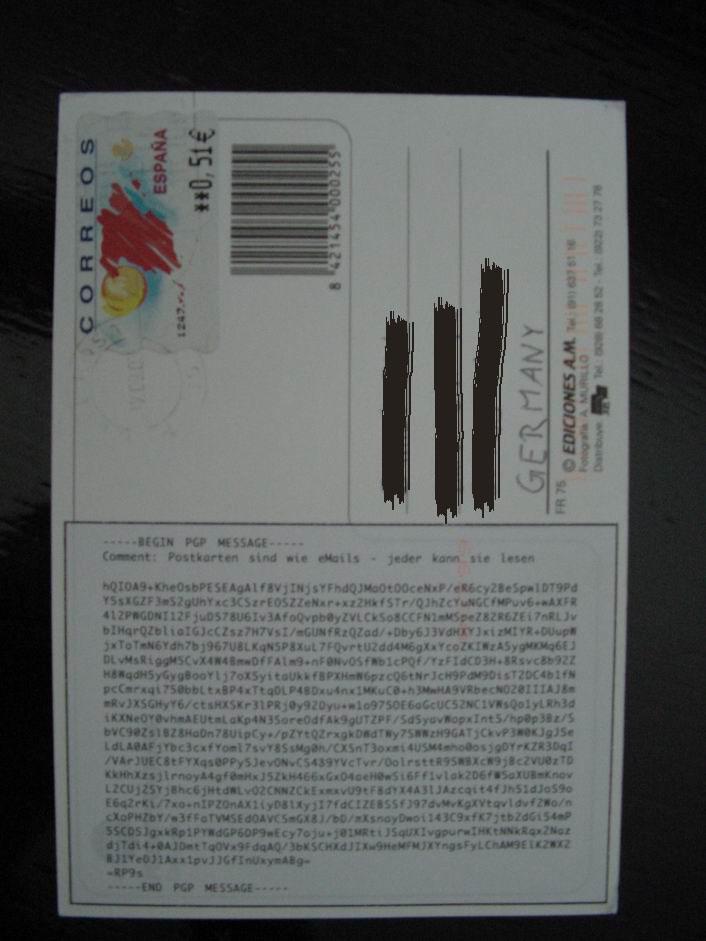 Postkarten sind wie eMail